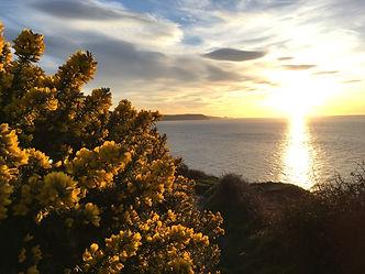 Sunset at Cwmtudu