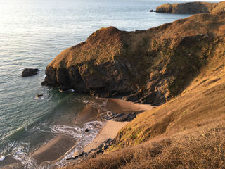 Cilborth beach, next to Llangrannog