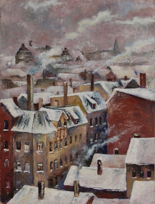 Halle im Winter 1986