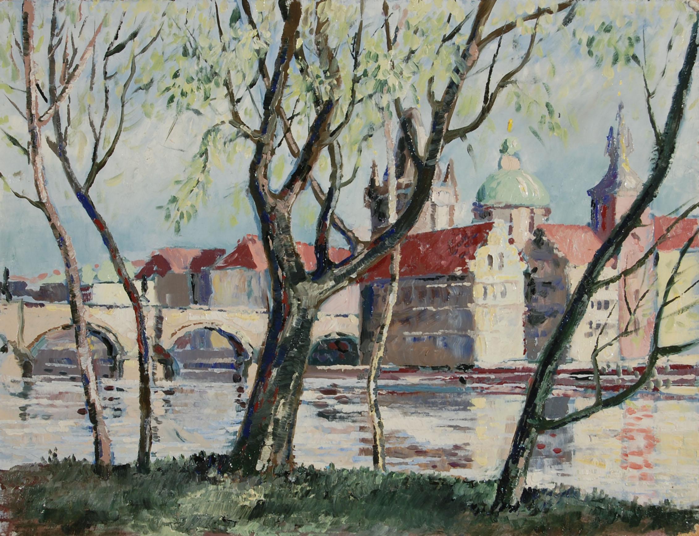 Prag Blick zu den Altstädter Mühlen 1994