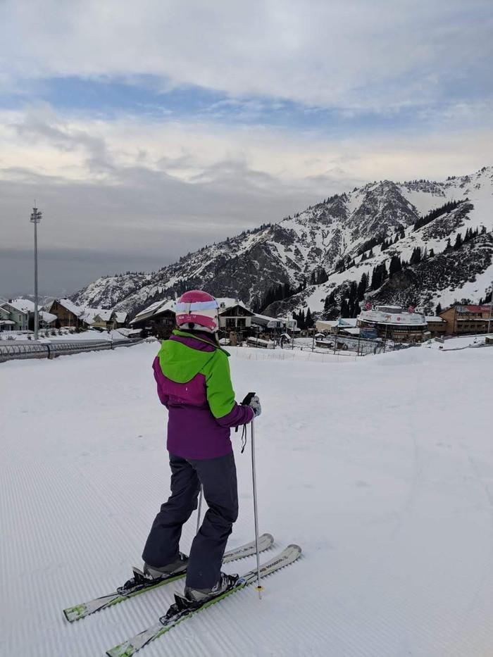 Quem diria, esquiando no Kazakstan!!