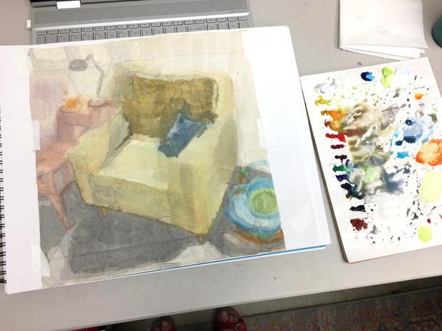 Handkerchief painting