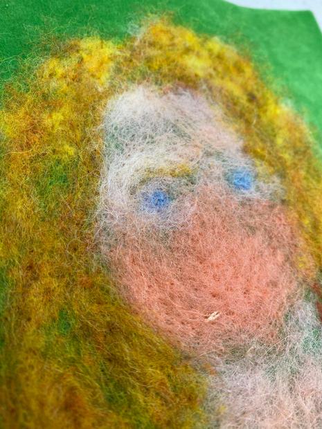 Detail of Self-portrait (Coral)