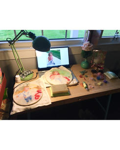 Another studio desk at home