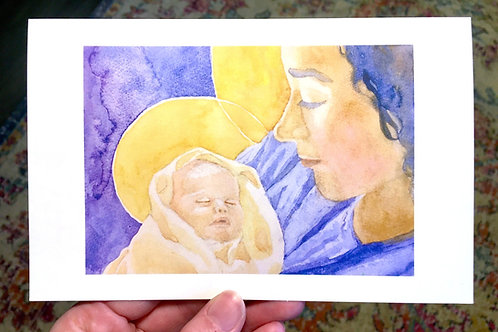 Virgin and Child (Christmas card)