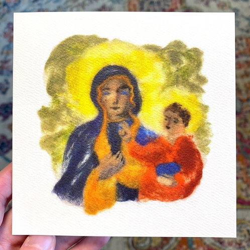 Byzantine Madonna (Christmas card)