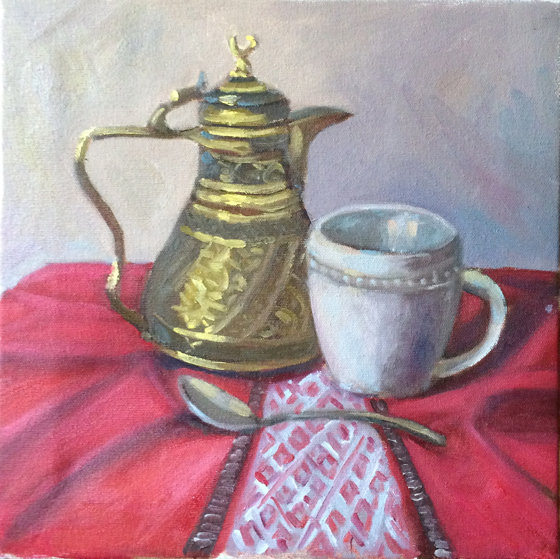Coffee in the Morning Oil Painting