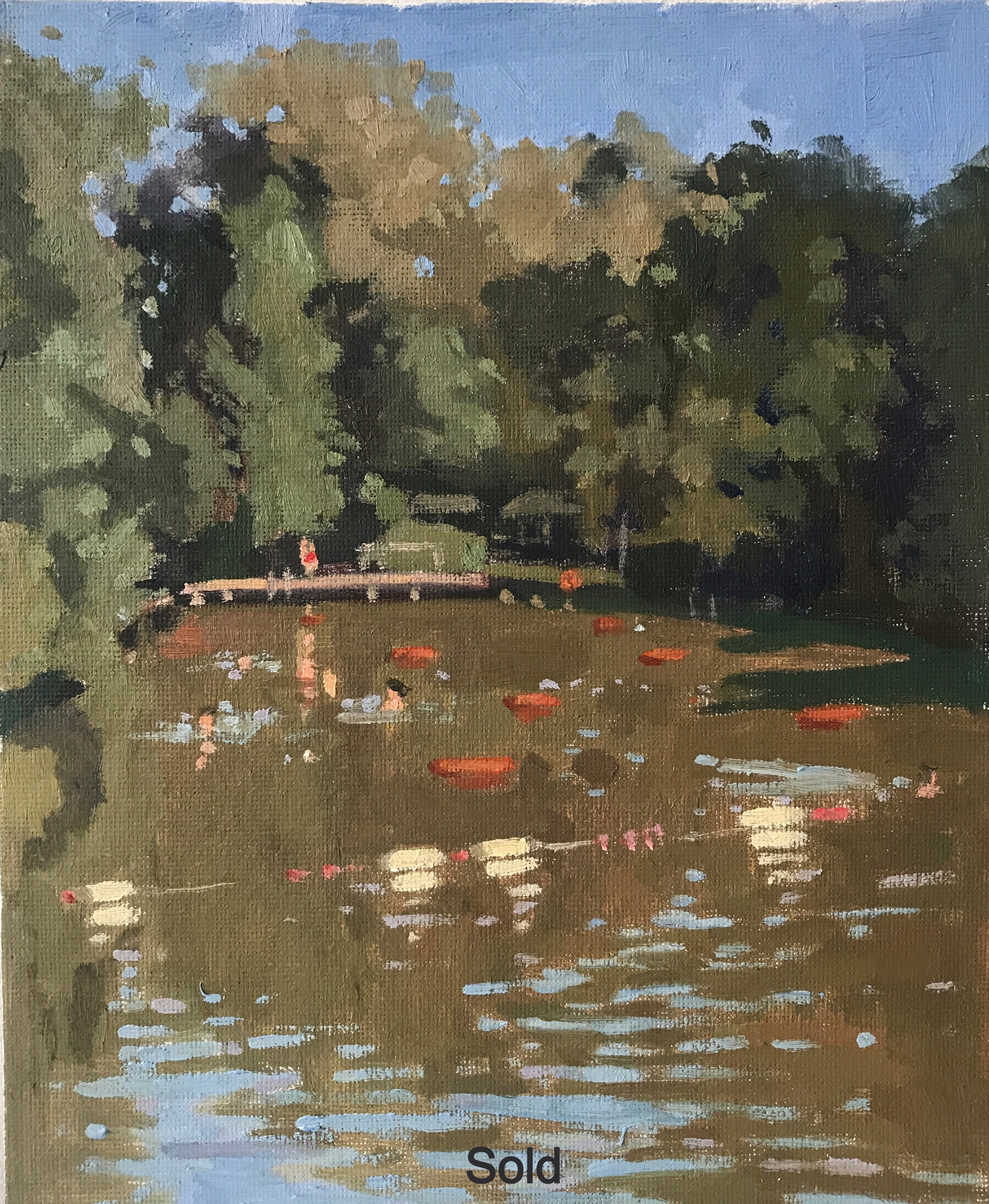 Hampstead Heath mixed pond