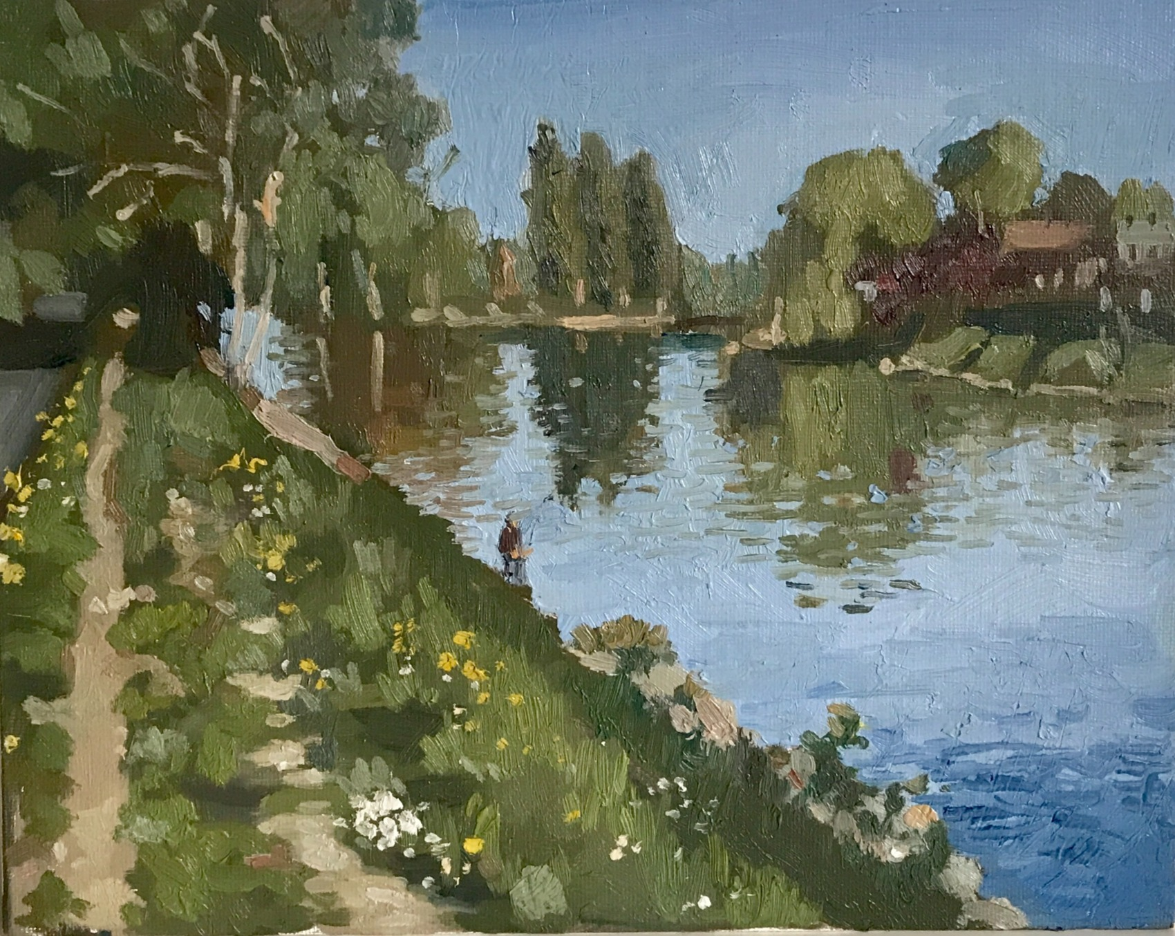 Oise River Parmain Bank