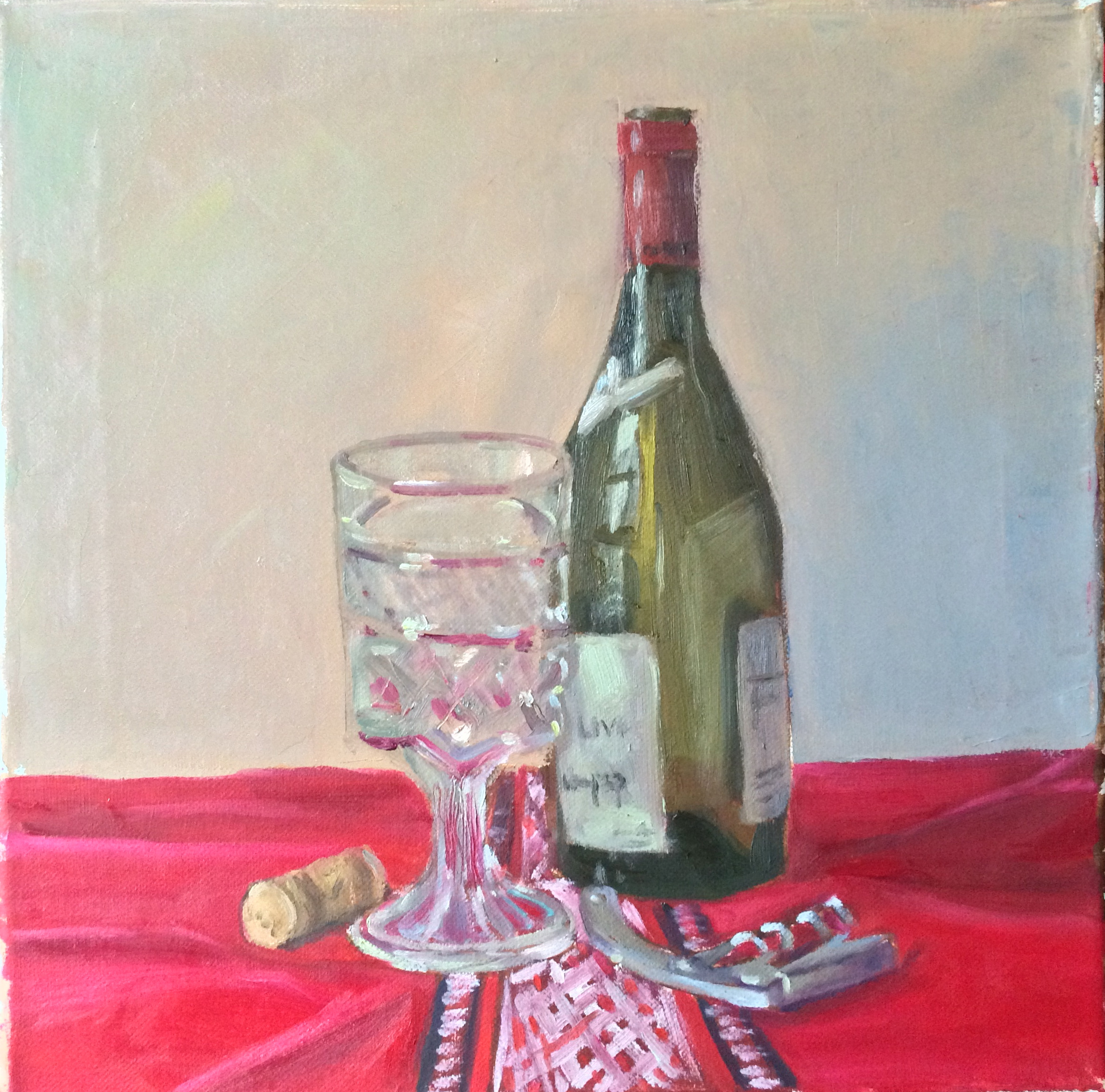 Empty Wine Bottle Painting