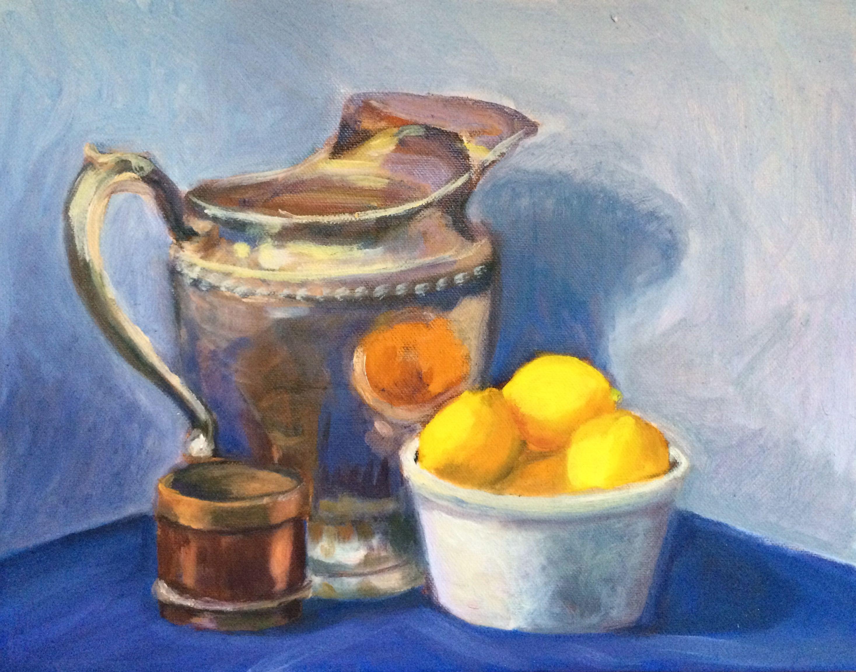 Still Life Lemons Original Oil Paint