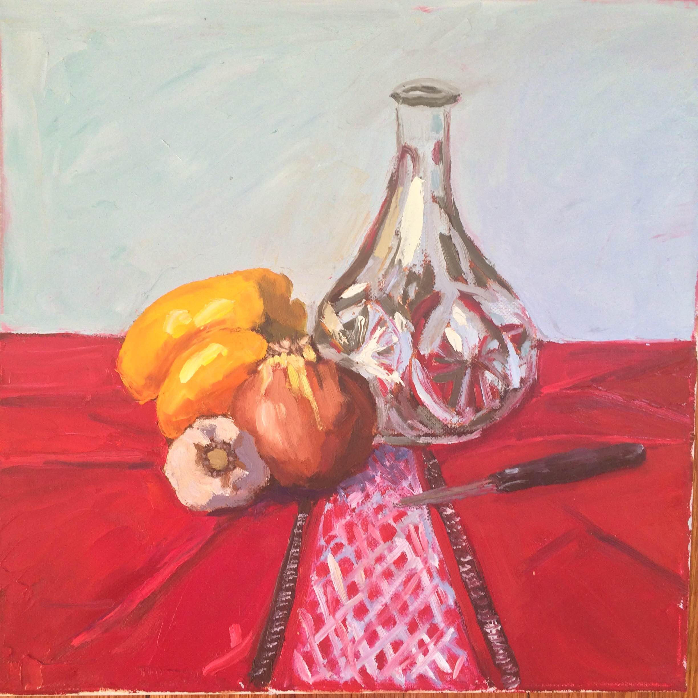 Empty Water Jug Original Oil Panting on Canvas