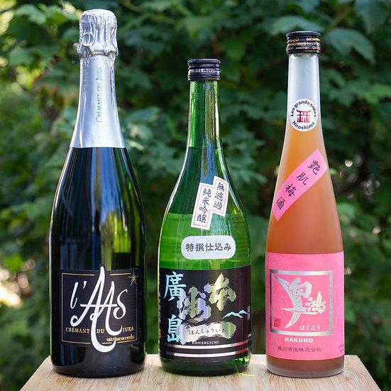 Saké et Vin | Set découverte trois bouteilles