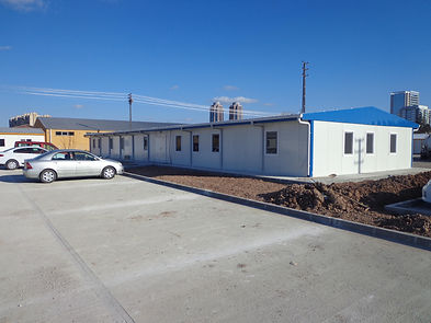 Prefabricated panelled building offices