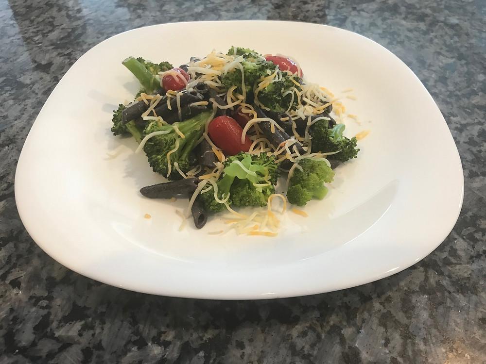 Black bean pasta, gluten-free, Aldi's