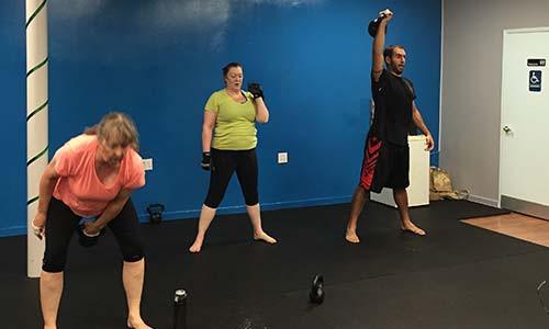 Kettlebell training in Woodland Hills