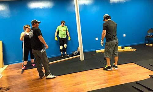 Breakthrough Gym Flooring being installed