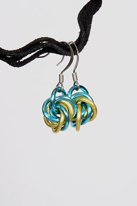 Aquatic Mobius Earrings