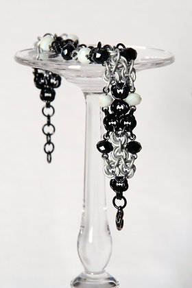 Enchanting Black and White Mobius Bracelet