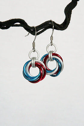 Go USA! Mobius Earrings