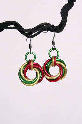 Jamaica Man! Mobius Earrings