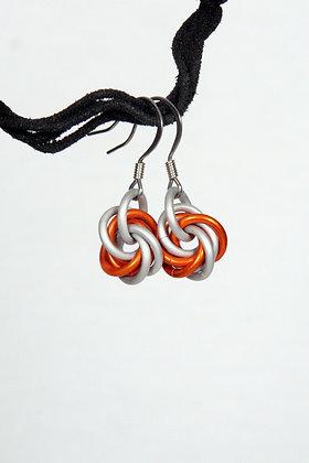 Road Cone Mobius Earrings