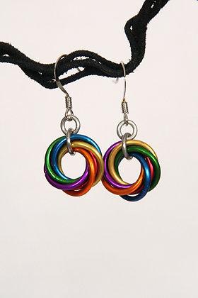 Rainbow Mobius Earrings - #9500