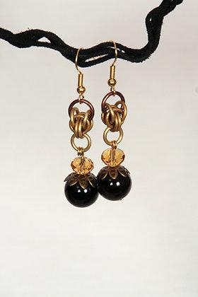 Golden Persian Earrings