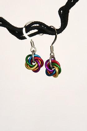 Rainbow Mobius Earrings - #9505