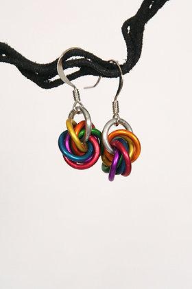 Rainbow Mobius Earrings - #9518