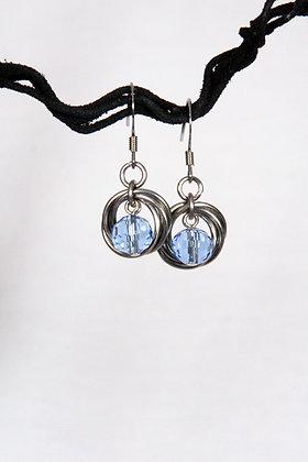 Blue Beauty Mobius Earrings