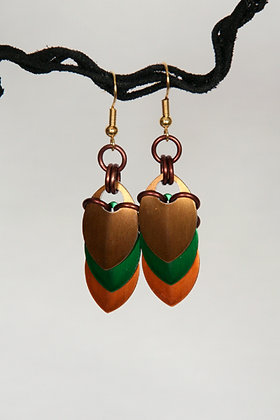 Harvest Scale Earrings