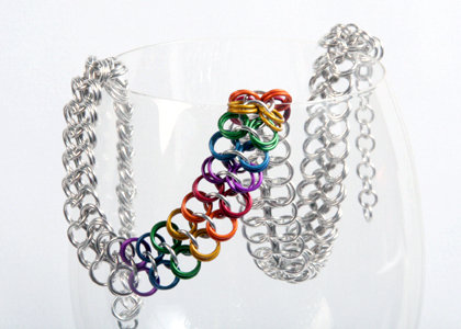Rainbow King's Maille Necklace