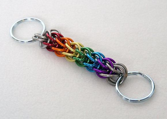 Gay Pride Rainbow Keychain