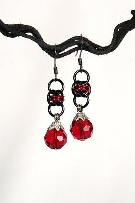 Dragon Heart Barrel Earrings