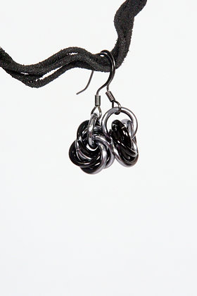 Sleek Mobius Earrings