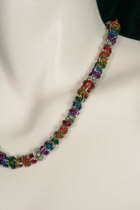 Rainbow Barrel Necklace