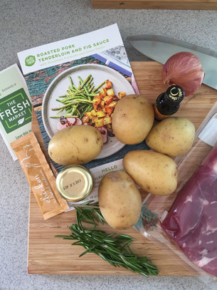 Review: Hello Fresh: Roasted Pork Tenderloin and Fig Sauce