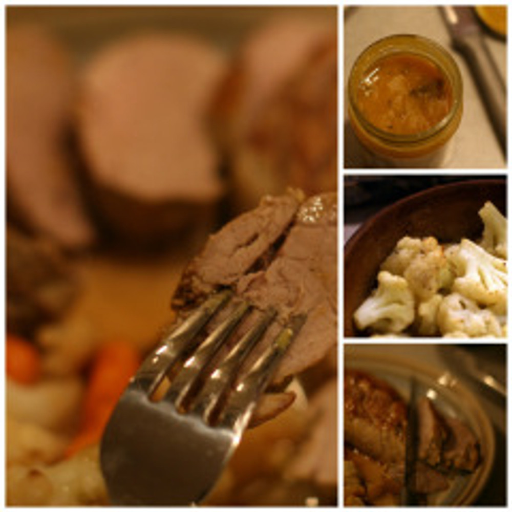 pork loin collage