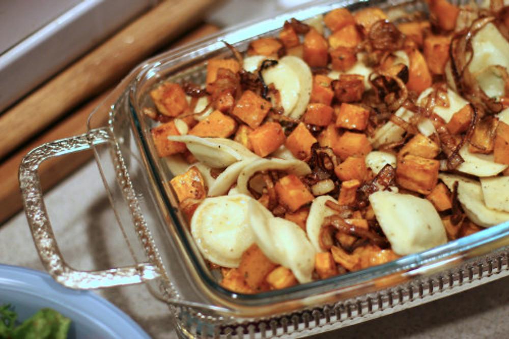 sweet potato & Ravioli