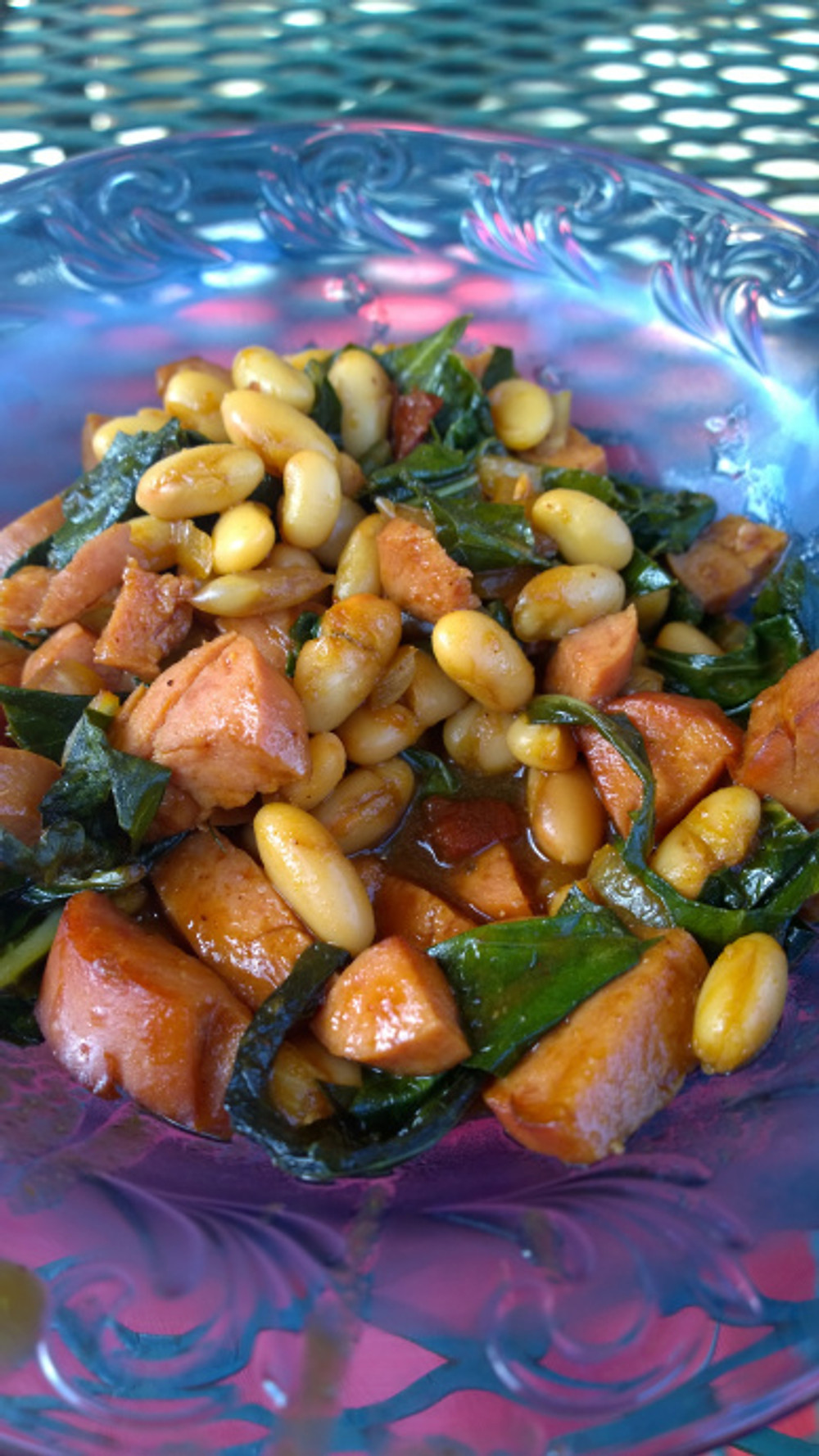 915 bbq beans with kale