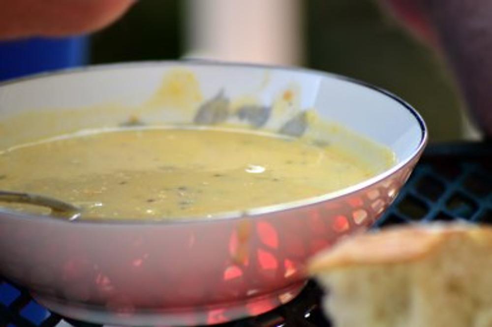 potato soup close