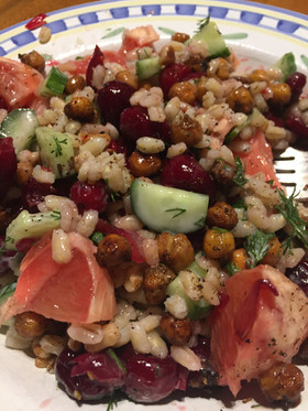 Meatless Monday - Mezze Bowl with Cranberry Compote and Za'atar Chickpeas by Purple Carrot