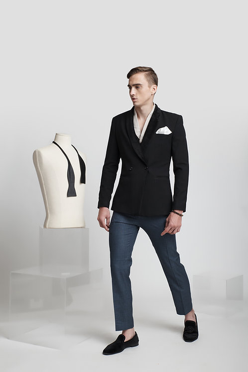 TAILORING BLAZER WITH VETVET SHAWL COLLAR