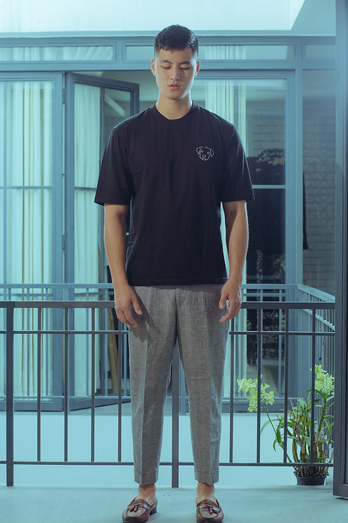 Oversized T-Shirt with 'Mau Tuat' Embroidery