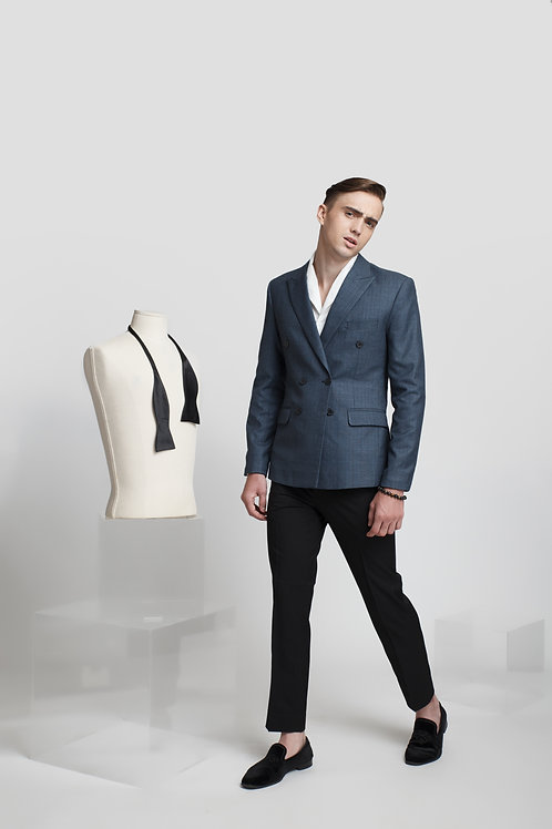 TAILORING BLAZER WITH CHECK PATTERN