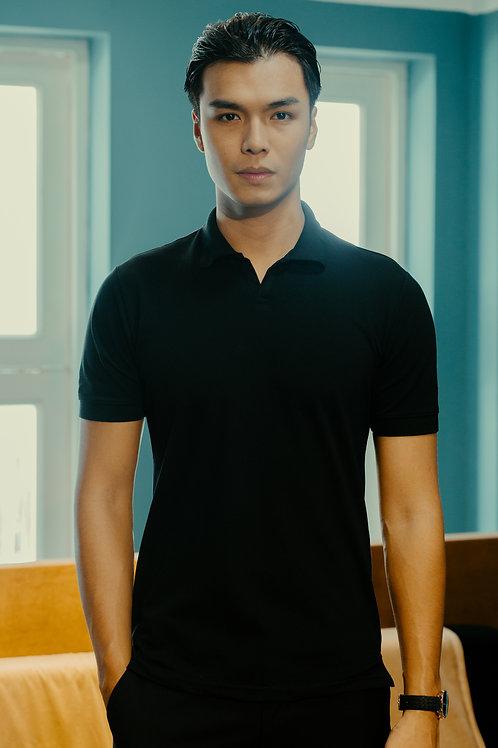 Buttonless Polo Shirt