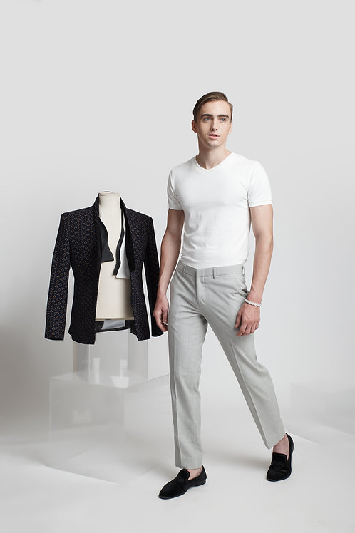 TAILORING TROUSERS WITH STRIPED PATTERN