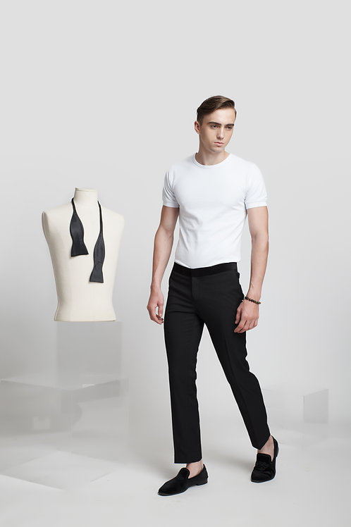 TAILORING TROUSERS WITH VELVET WAIST