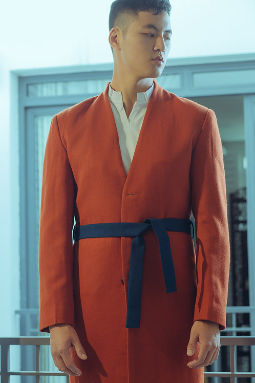 Trench Coat with Contrast belt